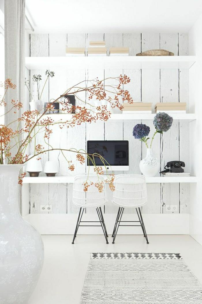 1-élégant-aménagement-coin-de-travail-déco-blanc-mur-de-planchers-blancs-chaise-en-fer