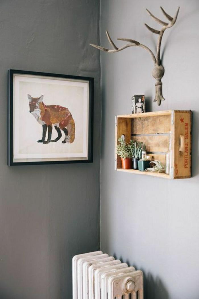 1-étagère-murale-petite-étagère-salon-mur-gris-idée-créative