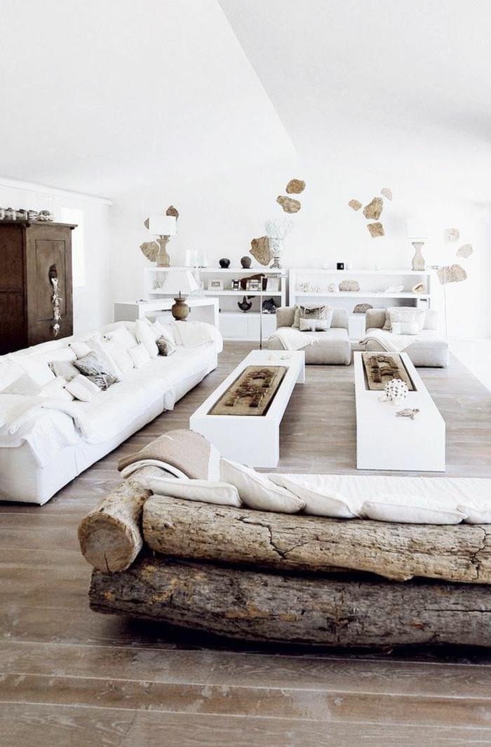 Le meuble massif est il convenable pour l 39 int rieur - Salon bois et blanc ...