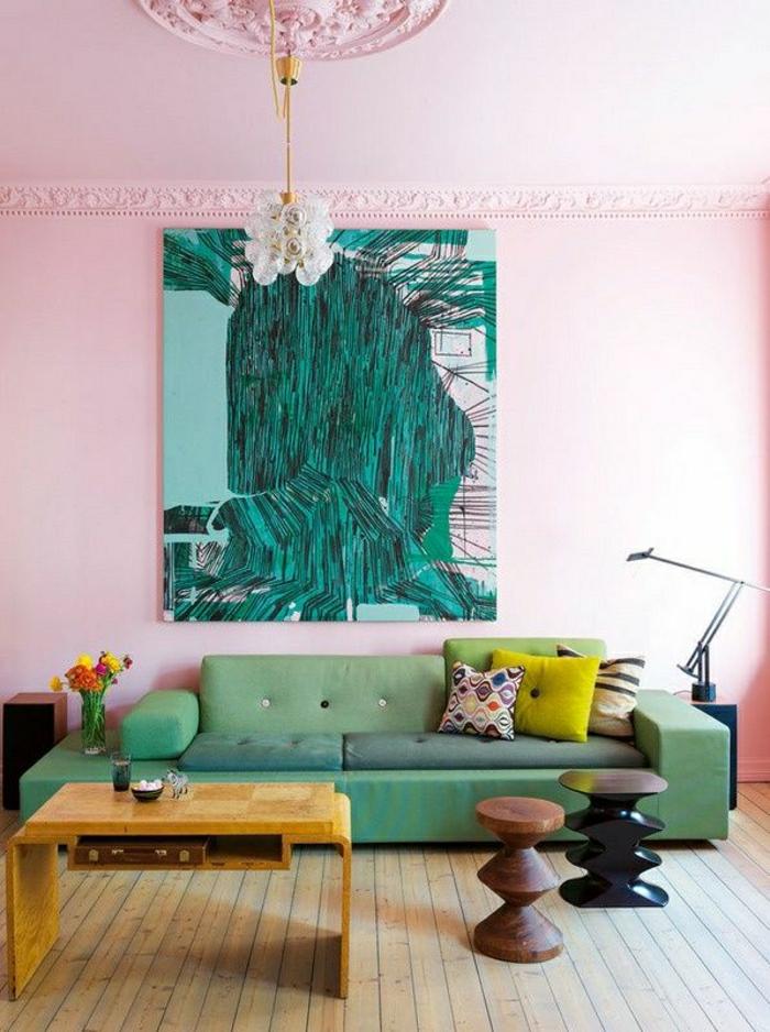 1-canapé-couleur-turqoise-fenetre-peinture-couleur-cobat-salon-moderne-table-en-bois