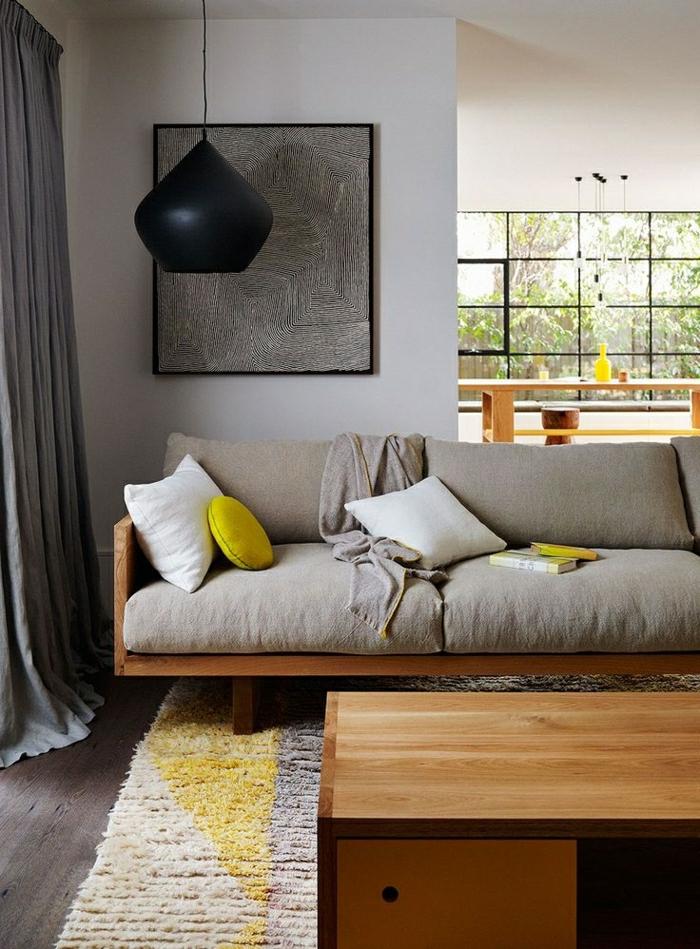 Aujourd hui nous sommes inspir s par la couleur taupe - Deco salon jaune gris blanc ...