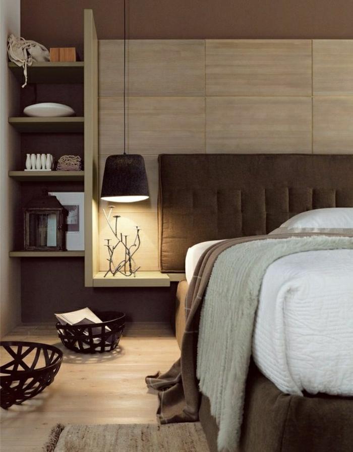 1-chambre-a-coucher-couleur-taupe-lampe-a-poser-de-chevet-suspendu-lit-taupe-tapis