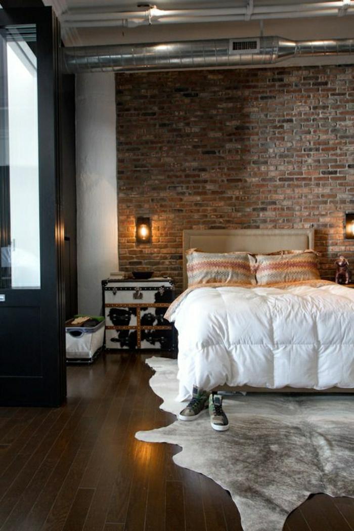 1-chambre-a-coucher-intérieur-élégant-de-luxe-tapis-en-peau-de-vache-parquet-foncé