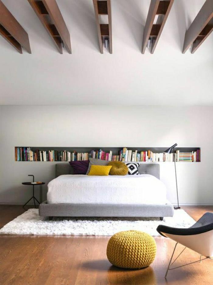 ... etagere murale chambre a coucher : une chambre a coucher élégante