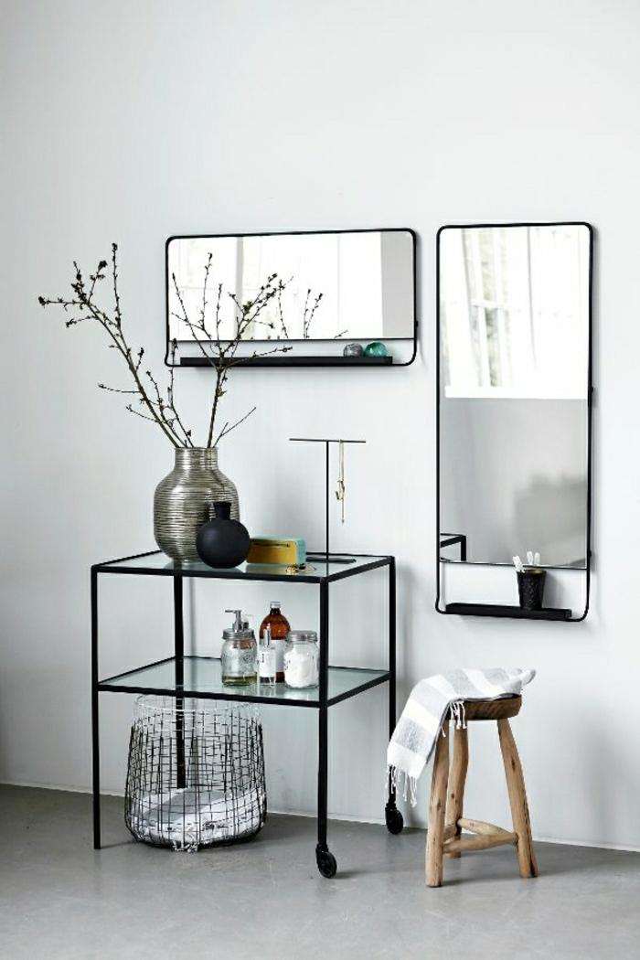 1-console-d-entrée-meubles-d-entrée-en-fer-forgé-et-verre-mur-blanc-sol-en-lin-gris