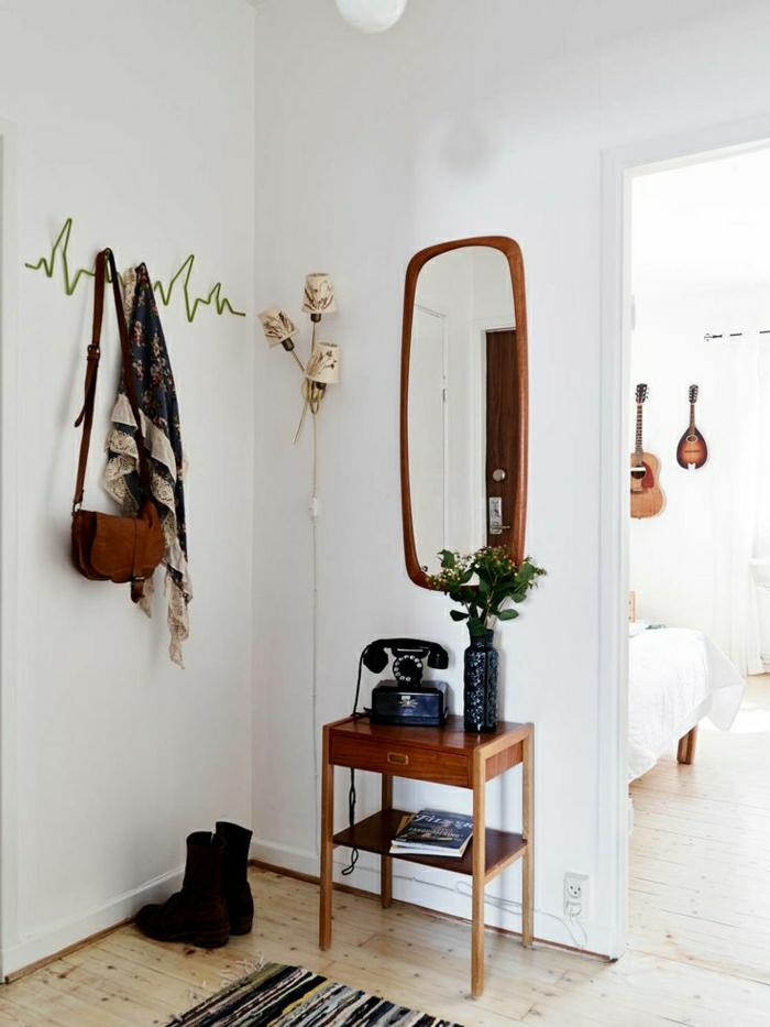 1-console-d-entrée-meubles-d-entrée-ikea-couloir-avec-mur-blanc-couloir-blanc-console-bois
