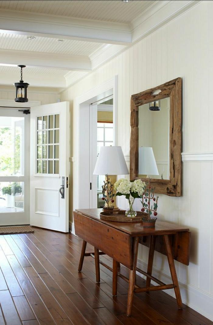 1-console-d-entrée-meubles-d-entrée-ikea-couloir-avec-sol-en-planchers-bois-lampe-blanche