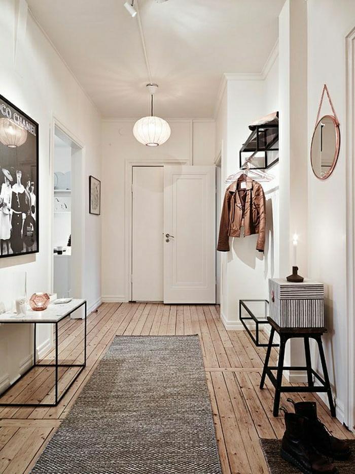 1-console-d-entrée-meubles-d-entrée-ikea-couloir-avec-sol-en-planchers-bois-tais-gris
