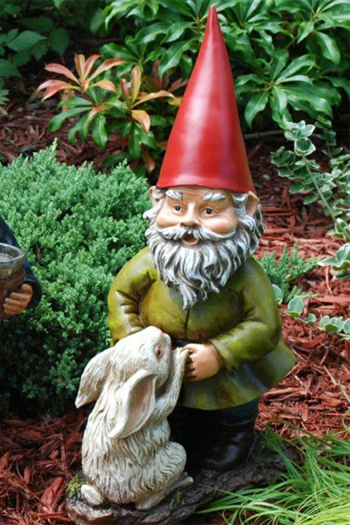 1-gnomes-de-jardin-chapeau-rouge-sculpture-de-jardin-déco-jardin