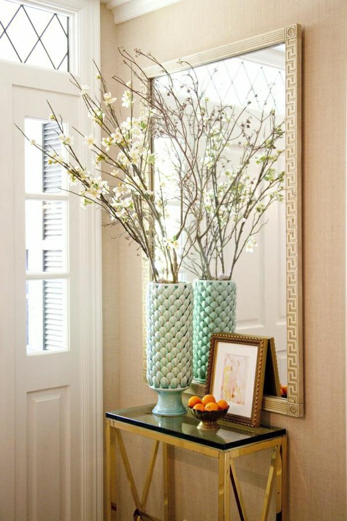 1-ikea-meuble-d-entrée-console-en-verre-fleurs-dans-l-entrée-moderne-porte-d-entré
