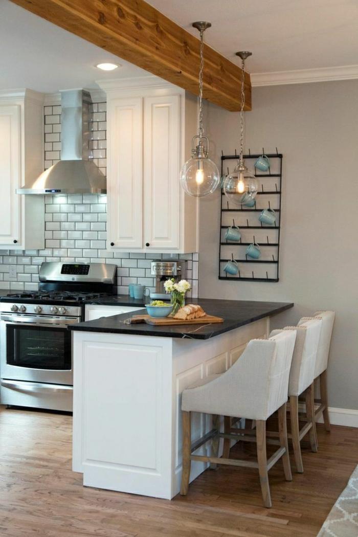 1-la-plus-belle-cuisine-blanche-bar-de-cuisine-en-bois-blanche-carrelage-murale