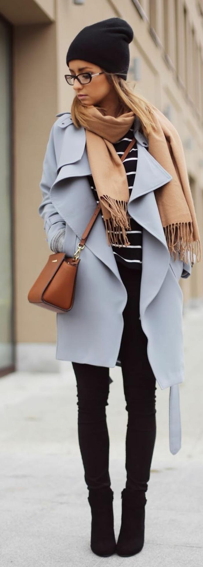 Veste longue daim noir