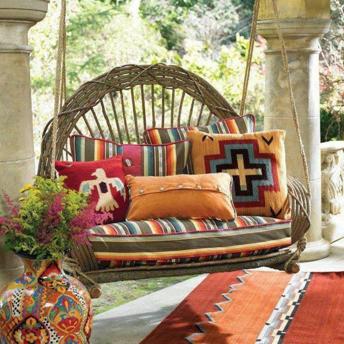 1-meuble-rustique-décoration-pour-le-jardin-canapé-rustique-chaise-suspendue