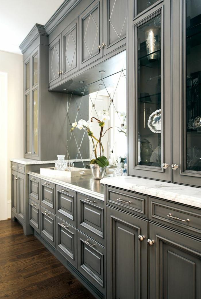 1-meubles-en-bois-gris-cuisine-grise-en-bois-fleurs-idéе-couleur-cuisine-en-bois