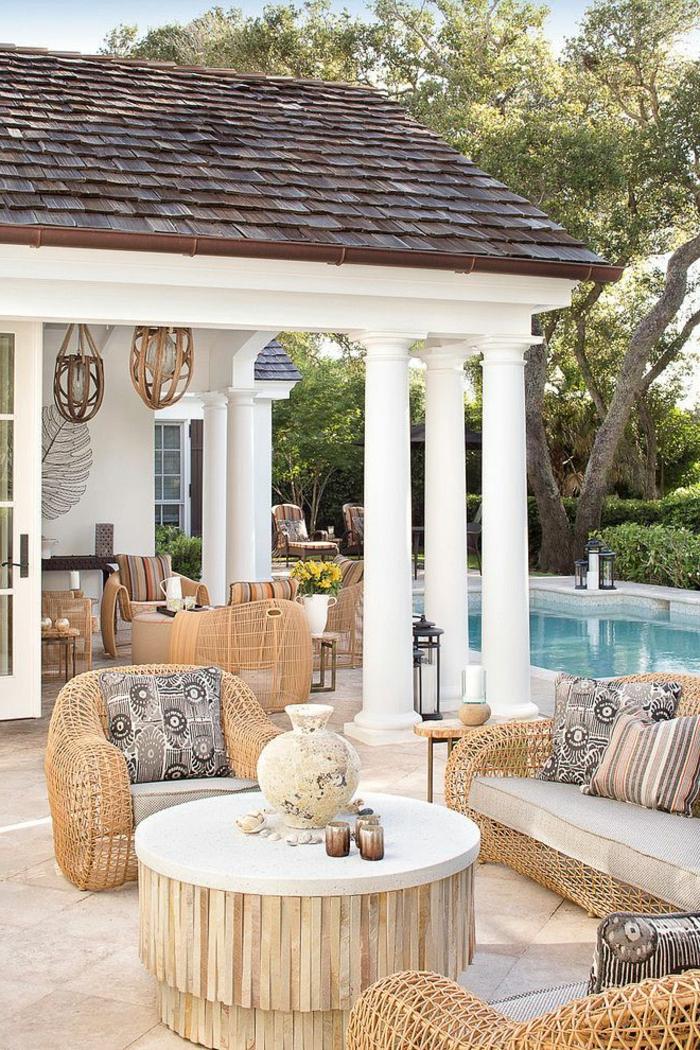 Meuble rotin veranda with meuble rotin veranda sejour for Meuble en rotin