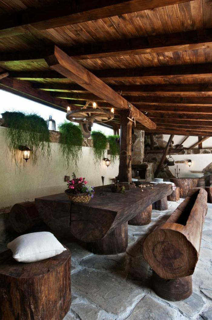 1-meubles-rustiques-table-rustique-pour-le-jardin-aménagement-de-jardin-meuble-chene