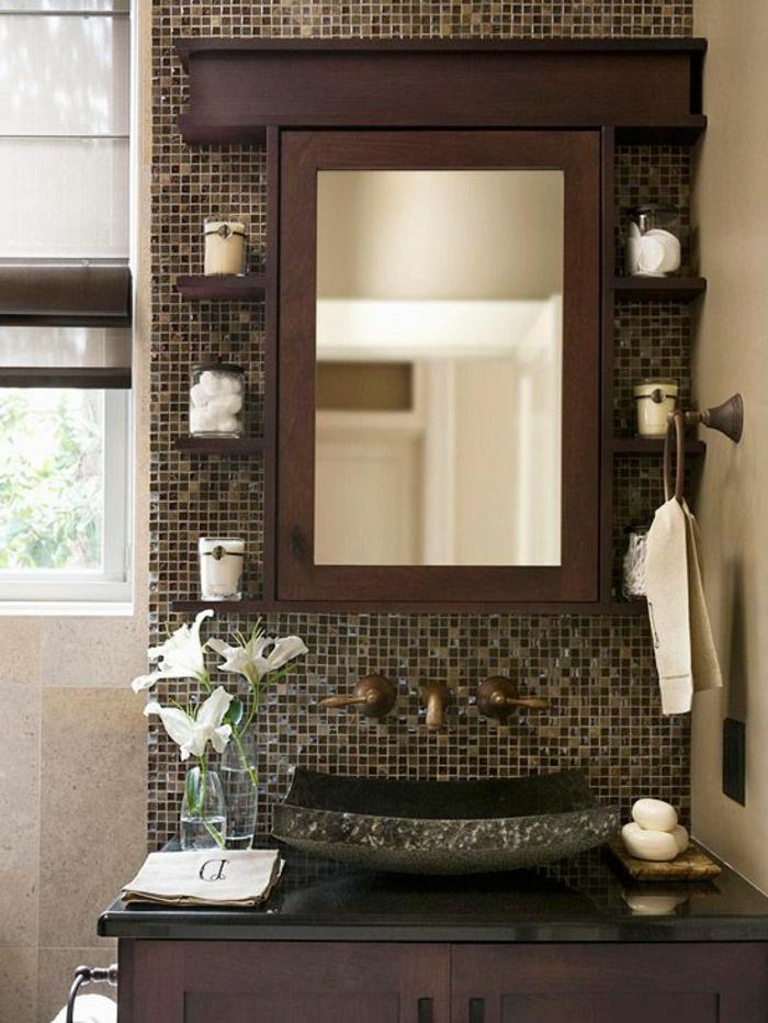 Le th me du jour est la salle de bain r tro for Lavabo noir salle de bain