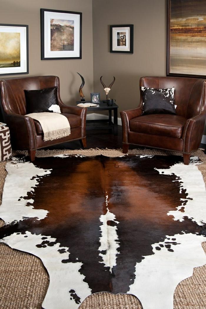 comment adopter la peau de vache dans l int rieur. Black Bedroom Furniture Sets. Home Design Ideas