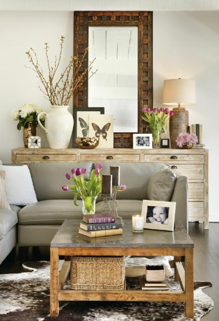 1-salon-design-tapis-peau-de-vache-tapis-en-peau-parquet-table-de-salon-en-bois
