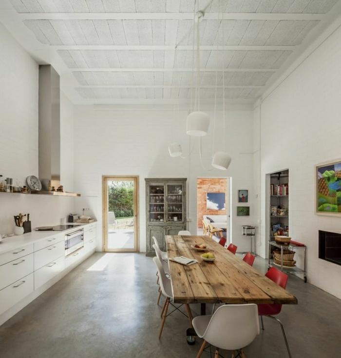 La table haute de cuisine est ce qu elle est confortable for Quel sol pour une cuisine en bois