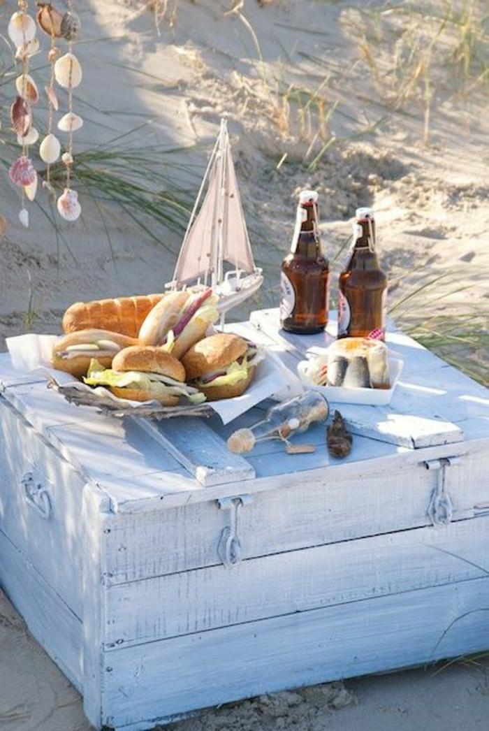 1-table-basse-de-plage-petit-déjeuner-plage-décoration-de-plage-table-de-picnic