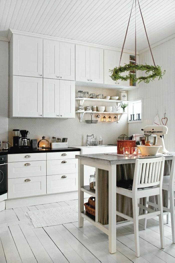 La table haute de cuisine est ce qu elle est confortable - Table cuisine bois blanc ...