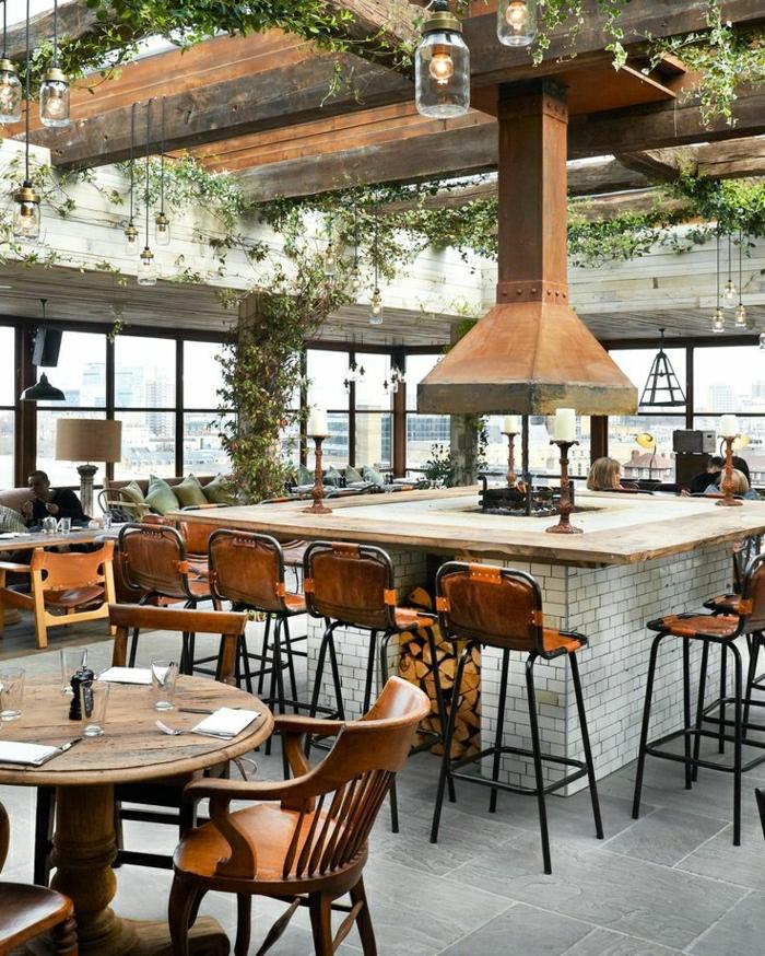 Comment adopter le tabouret de bar dans l'intérieur moderne? # Bar En Bois Moderne