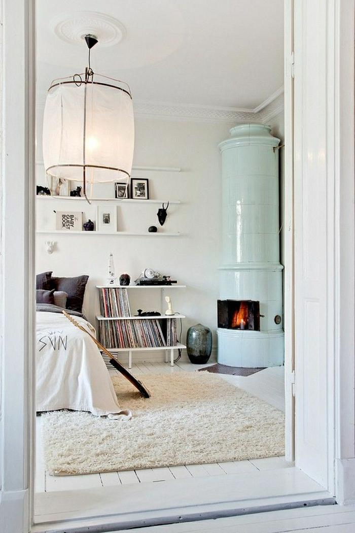 1-tapis-de-chambre-a-coucher-en-bois-blanc-cheminée-bibliothèque-murale-en-bois-blanc