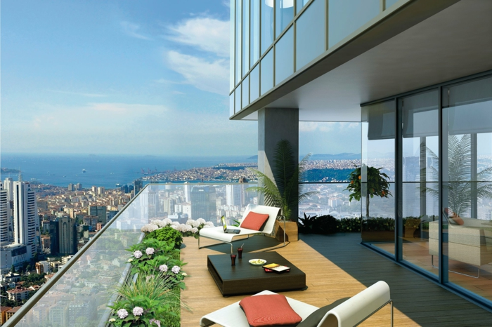 amenager sa terrasse en ville maison design. Black Bedroom Furniture Sets. Home Design Ideas