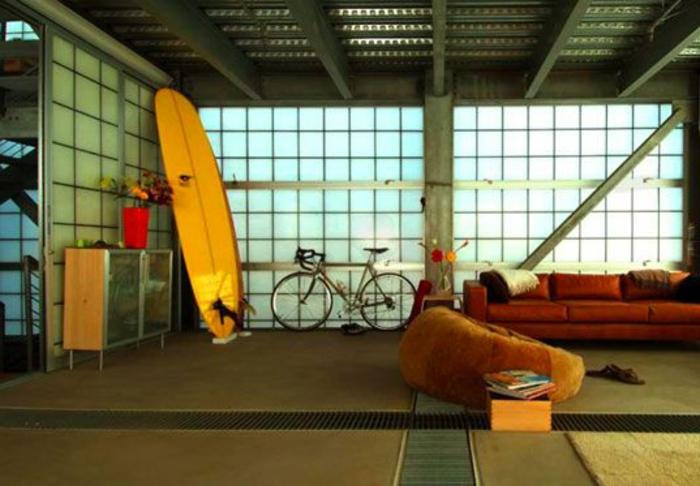 planche-de-surf-intérieur-loft-original