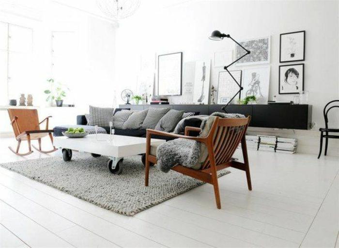 Appartement-lux-style-couleurs-caramel-en-blanc-chaise-balancoire-bois