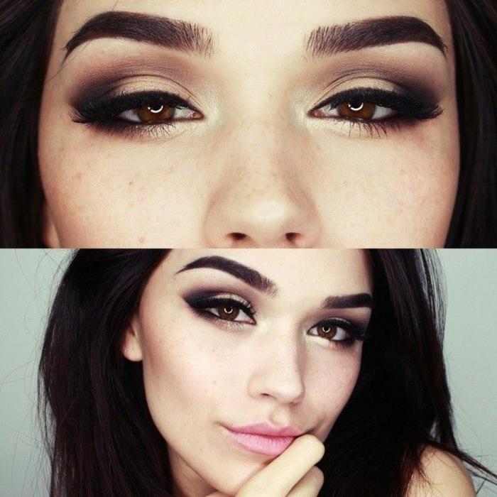 Béauté-maquillage-yeux-marrons-belle