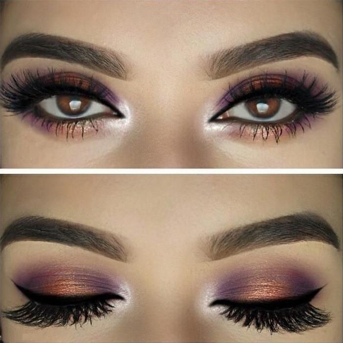 Béauté-maquillage-yeux-marrons-en-liolet