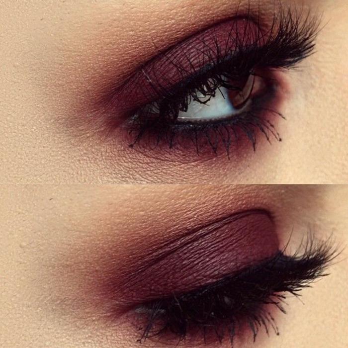 Béauté-maquillage-yeux-marrons