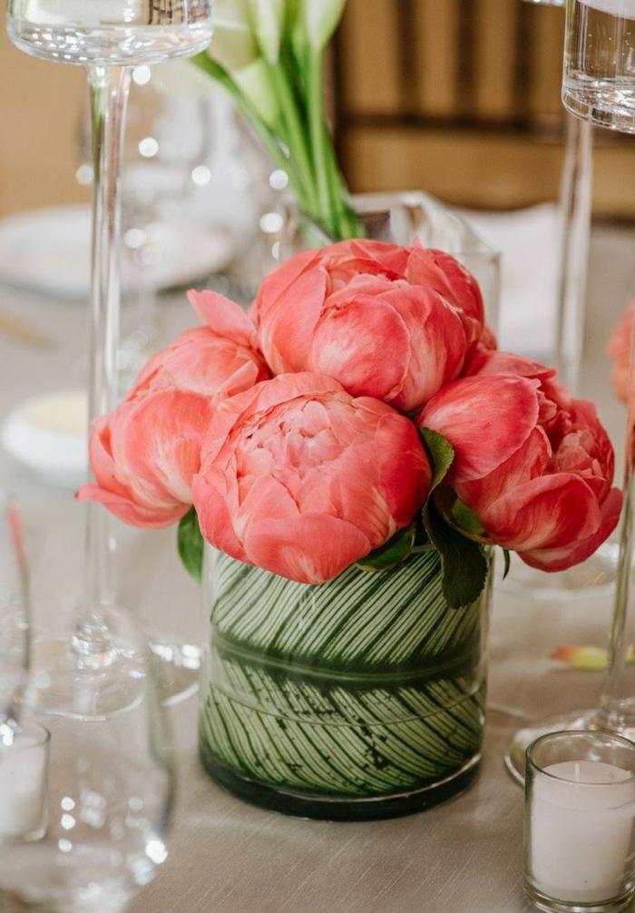 Bouquet-pivoine-fleur-jolie-déco-idée- décoration-de-table