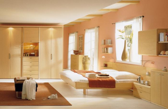 Caramel-chambre-à-coucher-meuble-mur-couleur-tapis