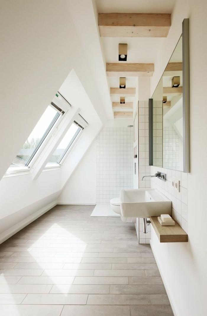 Carreau-vitre-fenêtre-châssis-de-toit-salle-de-bain-lumineuse