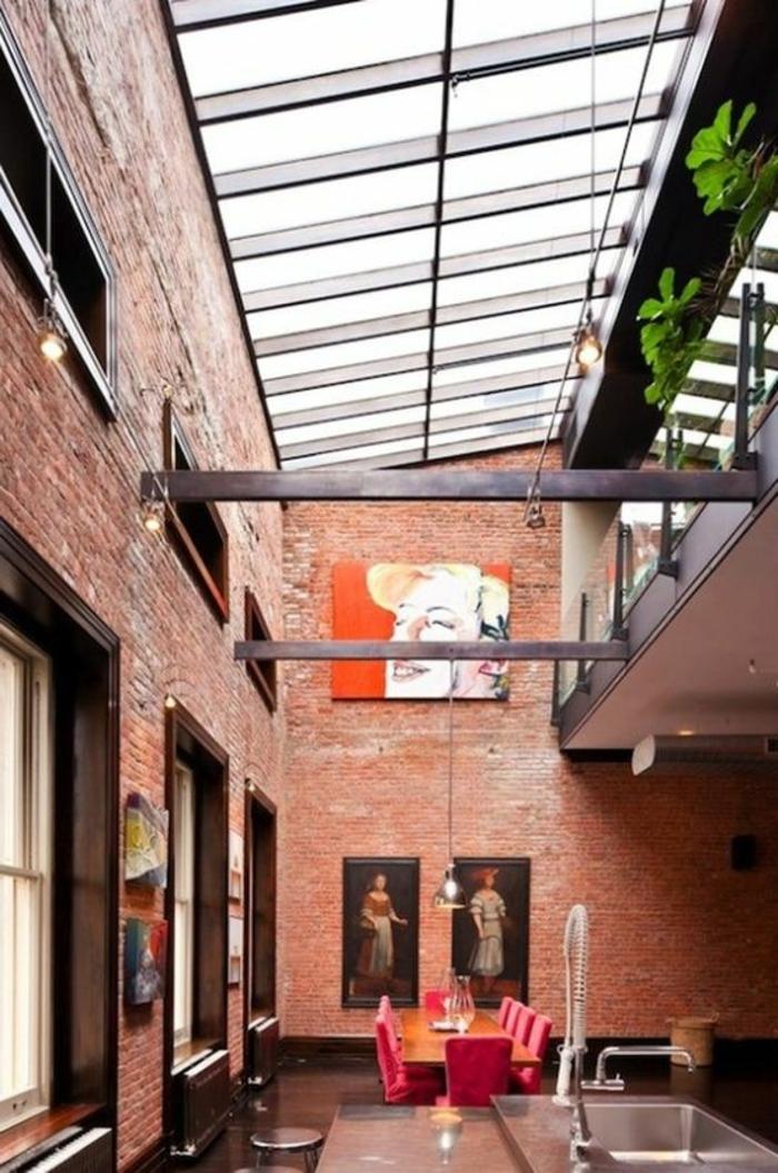 Carreau-vitre-fenêtre-châssis-de-toit-salon-new-yorkais-renaissance-peinture