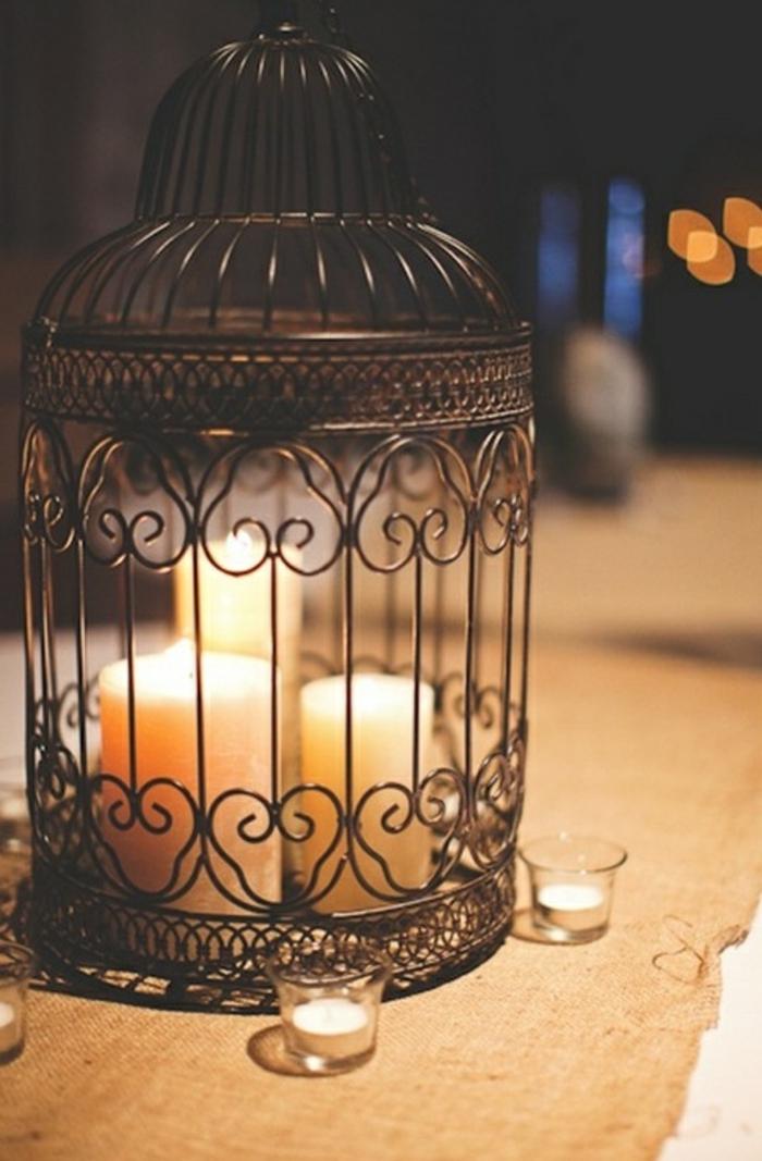 Chambre-à-coucher-romantique-déco-cage-bougies