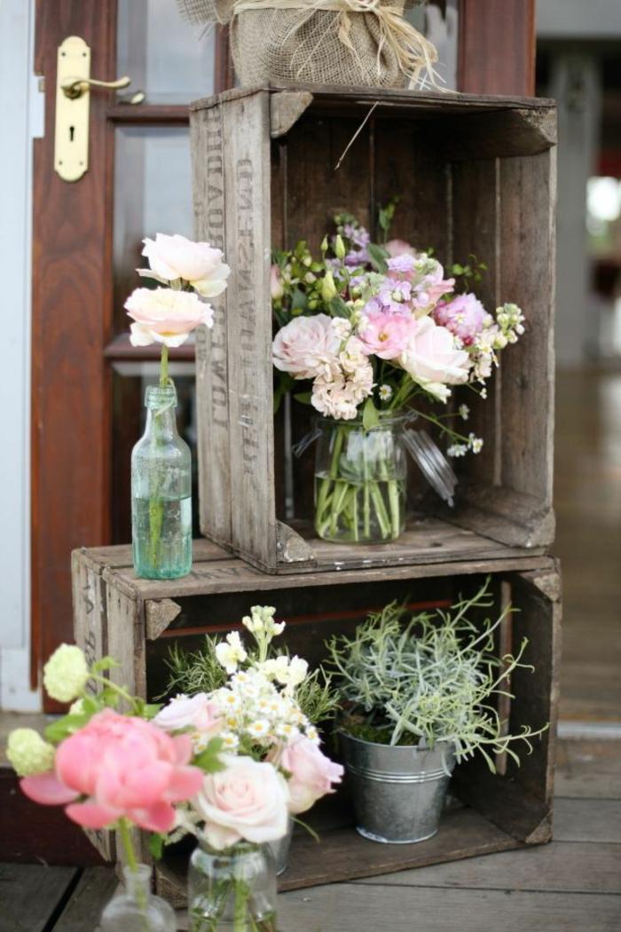 Chambre-à-coucher-romantique-déco-fleurs