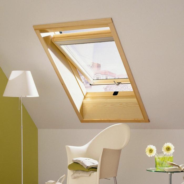 Chambre-fenêtre-de-toit-vue-jolie-en-vert