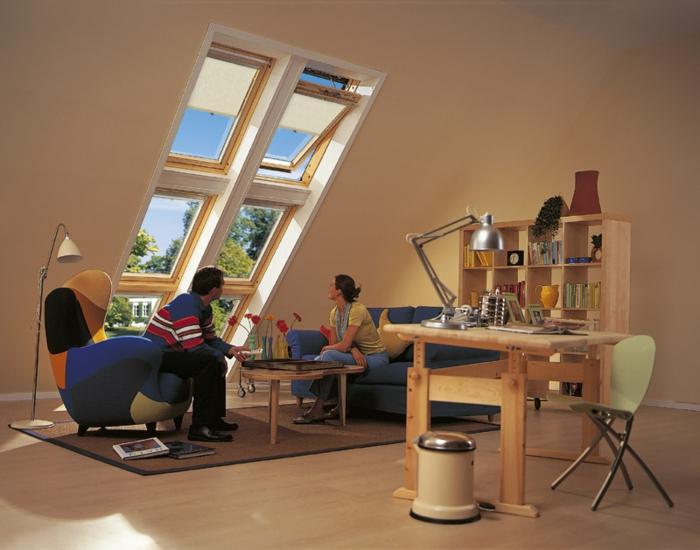 Chambre-fenêtre-de-toit-vue-jolie-salle-de-séjour-lumineux