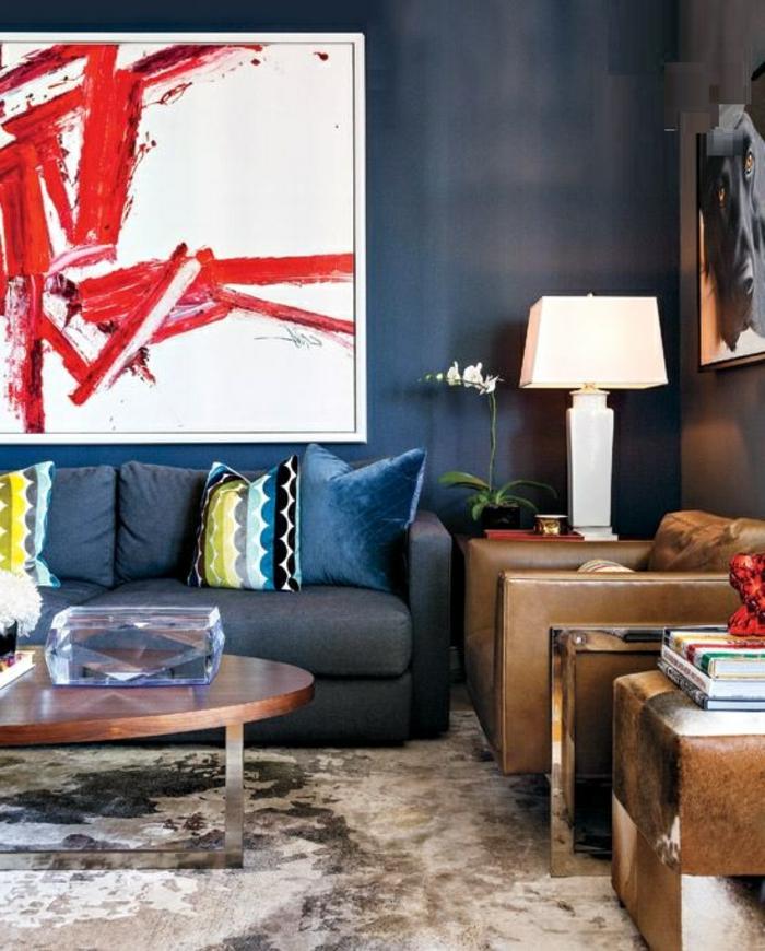 Couleur-caramel-intérieur-idees-creatives-peinture-sofa-table-basse