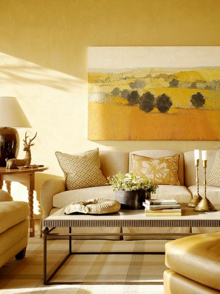 Couleur-caramel-sur -murs-et-mobilier-amenagement-maison