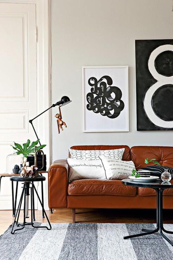 Couleur-caramel-sur -murs-et-mobilier