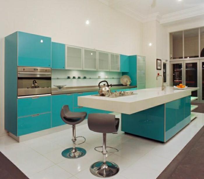 Cuisines-aigues-marines-idée-intérieur-en-bleue