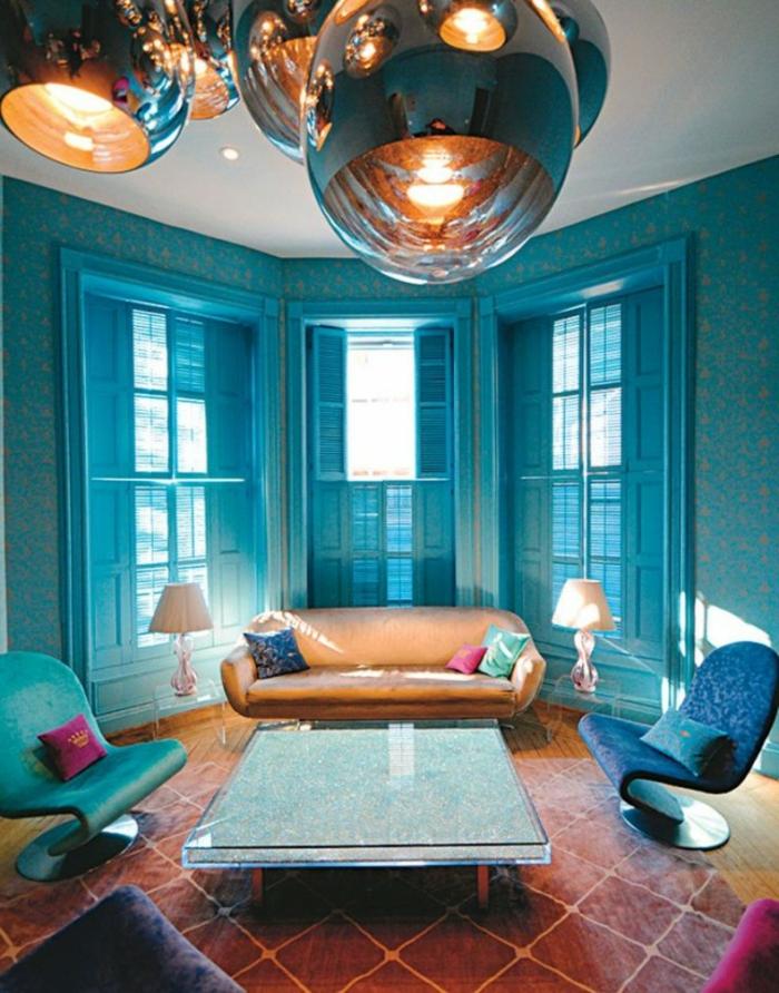 Cuisines-aigues-marines-idée-intérieur-salon-bleue