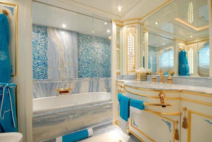 Beautiful Salle De Bains Deco Mer Beige Bleu Contemporary ...
