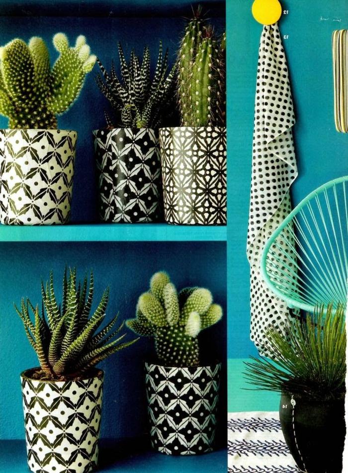 Décoration-en-couleur-marine-aigua-plantes-vertes-cactus