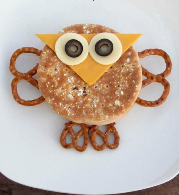 Idée-petit-déjeuner-équilibré -forme-d-hibou